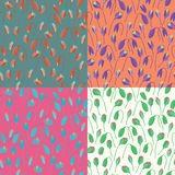 Seamless poppy blossom pattern background, set Stock Photography