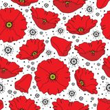 Seamless poppy pattern royalty free stock images