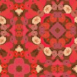 Seamless Poppy Textile Pattern. A completely seamless abstract tile able paper pattern stock photos