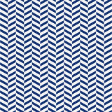 Seamless porcelain indigo blue and white herringbone pattern vector royalty free illustration