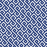 Seamless porcelain indigo blue and white square ethnic pattern vector. Seamless porcelain indigo blue and white square ethnic pattern Royalty Free Stock Photos