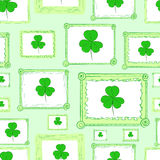 Seamless portraits of a shamrock Stock Images