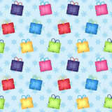 Seamless Present Background Royalty Free Stock Images