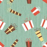 Seamless presents pattern in vector Royalty Free Stock Photo