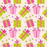 Seamless presents. Seamless texture with presents. Vector illustration Stock Photography