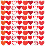 Seamless pretty background with hearts set Stock Photo