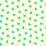 Seamless pretty blue butterfly pattern Stock Photos