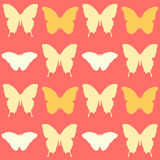 Seamless pretty butterfly pattern Royalty Free Stock Photography