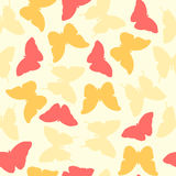Seamless pretty colorful butterfly pattern Stock Photos