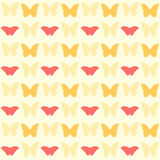 Seamless pretty yellow butterfly pattern Royalty Free Stock Images