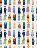 Seamless priest pattern Royalty Free Stock Image