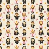 Seamless priest pattern Stock Image