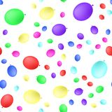 Seamless primitive background with party balloons of different colors . Vector illustration. Isolated on white background vector illustration