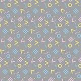 Seamless primitive geometric patterns. Stock Image