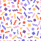 Seamless primitive geometric patterns for tissue and postcards. Stock Photography