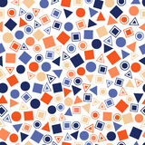 Seamless primitive geometric patterns for tissue and postcards. Stock Photo