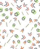 Seamless primitive geometric patterns. Trendy hipsters modern pattern. Royalty Free Stock Photography