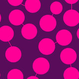 Print With Connected Pairs of Pink Spots Stock Image