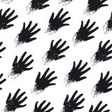 Seamless print of hands on the diagonal Stock Photo