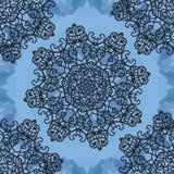 Seamless Print Mandala background. Vintage decorative element on endless texture. Hand drawn background. Islamic, Arabic, Indian, Royalty Free Stock Images
