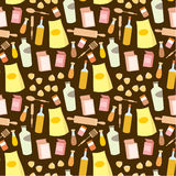 Seamless products pattern Stock Image