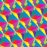 Seamless psychedelic multicolor abstract pattern Stock Photography