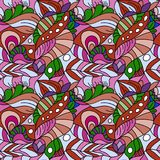 Seamless psychedelic pattern. Beautiful colorful background. Backdrop for the preview. Vintage image. Seamless psychedelic pattern. Beautiful colorful stock illustration