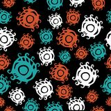 Seamless psychedelic pattern with eyes. Stock Images