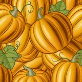 Seamless pumpkin background Stock Photo