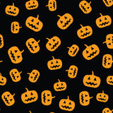 Seamless pumpkin pattern Royalty Free Stock Images