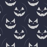 Black and white pumpkin pattern for Halloween. Vector seamless pumpkin pattern vector illustration