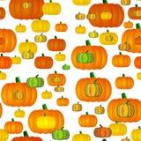 Seamless pumpkins tile Stock Images