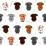 Seamless puppy background. Cartoon style. Pattern. Royalty Free Stock Photography