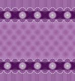 Seamless purple background with lace border Stock Photography