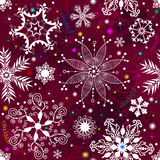 Seamless purple christmas pattern Stock Images