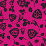 Seamless purple floral rose  background Stock Photo