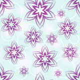 Seamless purple flower pattern. Stock Photos