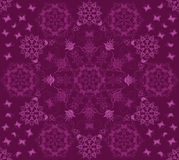 Seamless purple flowers and butterflies pattern Royalty Free Stock Photo