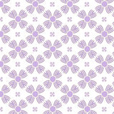Seamless purple flowers pattern background Royalty Free Stock Photography