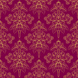 Foliate purple pattern Royalty Free Stock Image