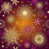 Seamless purple gradient christmas pattern Stock Photos