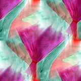 Seamless purple, green watercolor artist wallpaper modern textur Stock Photos