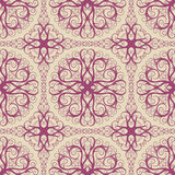 Pattern with purple swirls Royalty Free Stock Photography