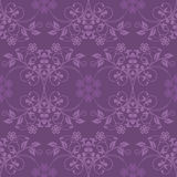 Seamless purple wallpaper Stock Image