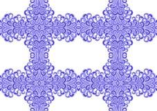 Seamless purple waves frame Royalty Free Stock Photo