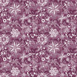 Seamless purple-white vintage pattern Stock Photography