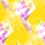 Seamless purple, yellow light watercolor artist wallpaper modern Stock Photo