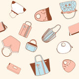 Seamless purses Royalty Free Stock Photo