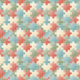 Seamless puzzle background Stock Images