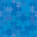 Seamless puzzle background Royalty Free Stock Images